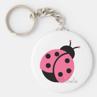 Ladybug Personalized Keychain