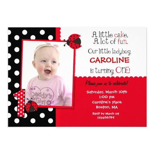Ladybug First Birthday Invitations absolutely amazing ideas for your invitation example