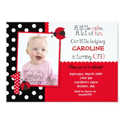 Red Black Ladybug Baby Shower Invitation Template Zazzle Com