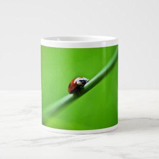 Ladybug photo giant coffee mug