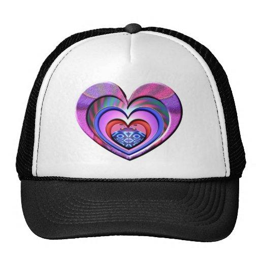 LadyBug Pink Heart Hats