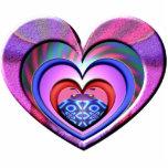 LadyBug Pink Heart Photo Cut Outs
