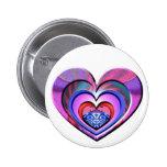 LadyBug Pink Heart Pins