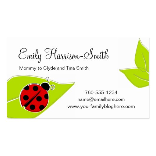 Ladybug business card business card templates bizcardstudio ladybug play date cards horizontal business cards colourmoves