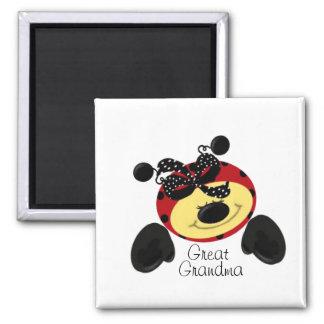 Ladybug Polka Great Grandma Magnet