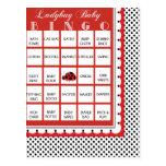Ladybug Polkadots Baby Shower Bingo Card 13