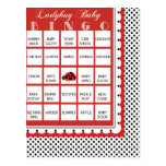 Ladybug Polkadots Baby Shower Bingo Card 19