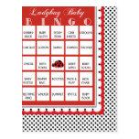 Ladybug Polkadots Baby Shower Bingo Card 19 Post Cards