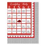 Ladybug Polkadots Baby Shower Bingo Card 20