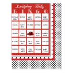 Ladybug Polkadots Baby Shower Bingo Card 5 Post Card