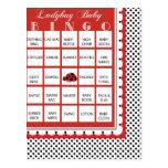 Ladybug Polkadots Baby Shower Bingo Card 7
