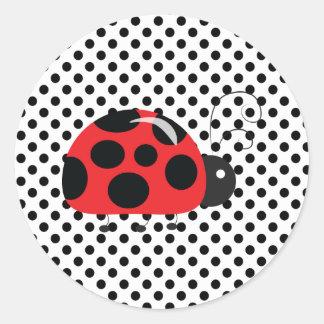Ladybug Polkadots Baby Shower Bingo Stickers