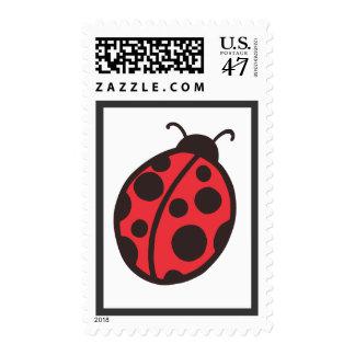 Ladybug Postage Stamp