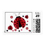 Ladybug Postage Stamps