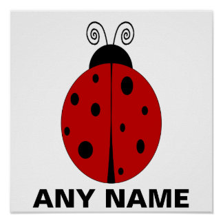 LADYBUG Poster design customized with ANY NAME