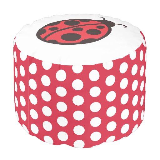 Ladybug Pouf Pillow Ottoman Kids Decor Zazzle