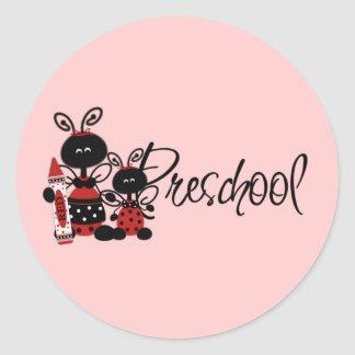 Ladybug Preschool Tshirts and Gifts Classic Round Sticker