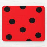 Ladybug Print Mousepad