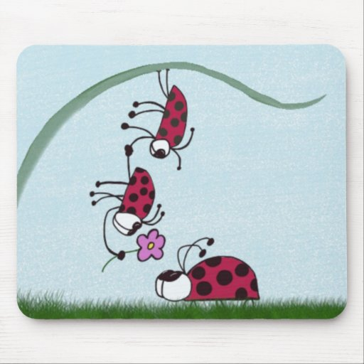 Ladybug professing his love for his sweetheart. mouse pads