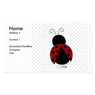 Ladybug Profile Card Business Card