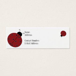 Ladybug Profile Thin Card