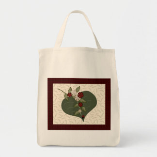 Ladybug Quilt Square Tote Bag