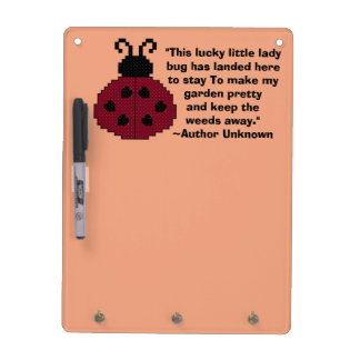 Ladybug Quote Dry Erase Board