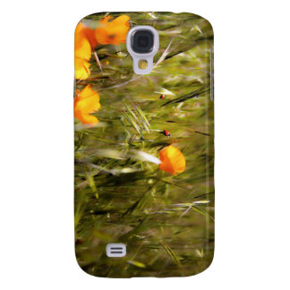 Ladybug reaching for flower samsung galaxy s4 cover