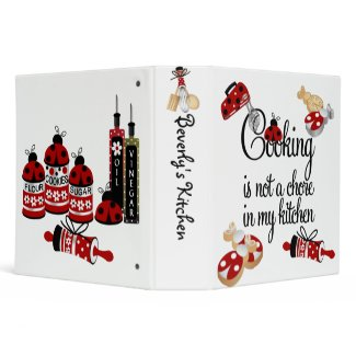 LadyBug Recipe Binder binder