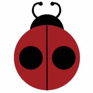Ladybug Red and Yellow Cute Cutout