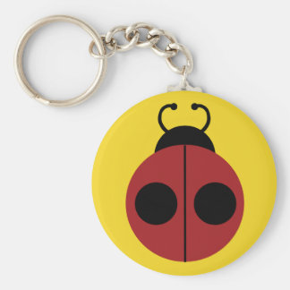Ladybug Red and Yellow Cute Keychain