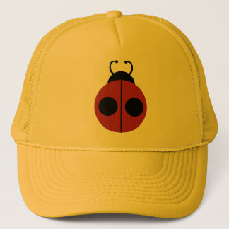 Ladybug Red and Yellow Cute Trucker Hat