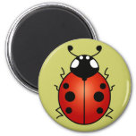 Ladybug Red Black Spots Ladybird Beetle 2 Inch Round Magnet
