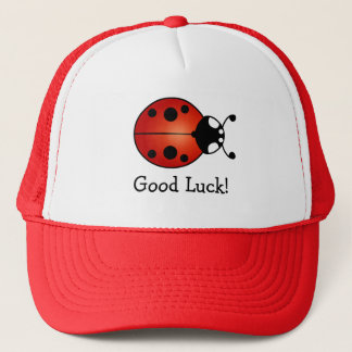 Ladybug Red Orange Black Ladybird Good Luck Trucker Hat