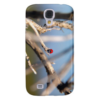 Ladybug resting on tree stem. galaxy s4 covers