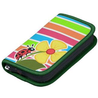 Ladybug; Retro Neon Rainbow Folio Planners