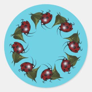 Ladybug Ring Stickers