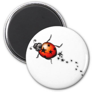 Ladybug Rockstar 2 Inch Round Magnet