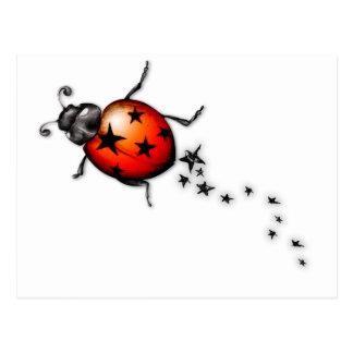 Ladybug Rockstar Postcard