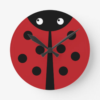 Ladybug Round Clock
