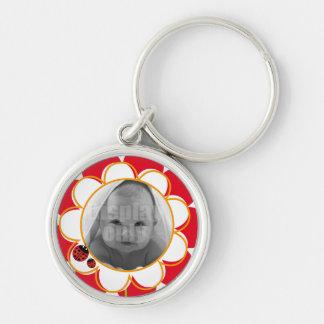 Ladybug round keychain