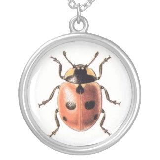 Ladybug Round Pendant Necklace