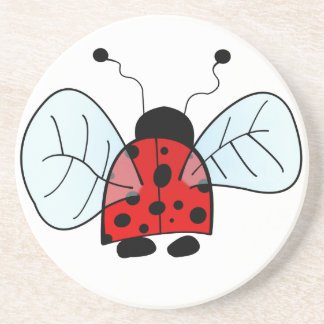 Ladybug Sandstone Coaster
