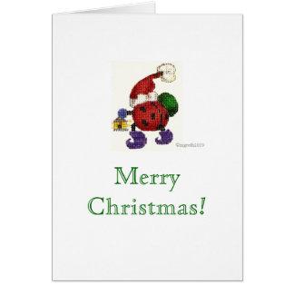 ladybug santa Christmas card