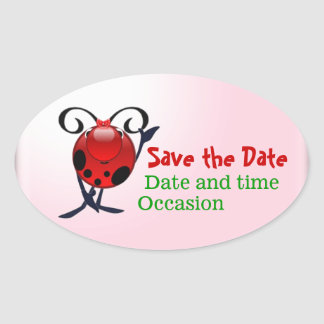 Ladybug save the date stickers