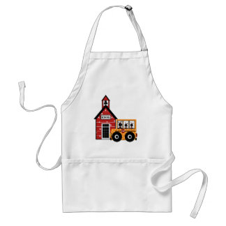 Ladybug School and School Bus Tshirts and Gifts Apron