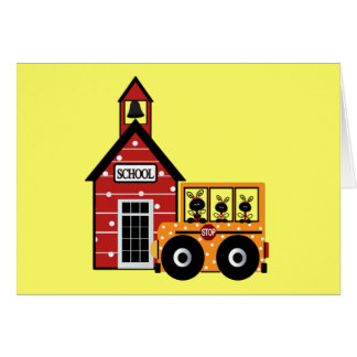 Ladybug School and School Bus Tshirts and Gifts Card
