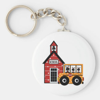 Ladybug School and School Bus Tshirts and Gifts Key Chain