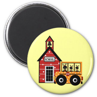 Ladybug School and School Bus Tshirts and Gifts Magnet