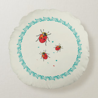 LadyBug Serie - Round Pillow